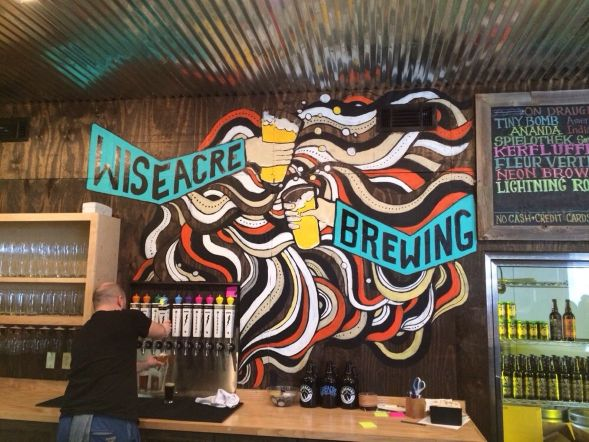 Best beer in Tennessee ~ Wiseacre Brewing's Astronaut Status...10.5% ABV..dark & heavy!