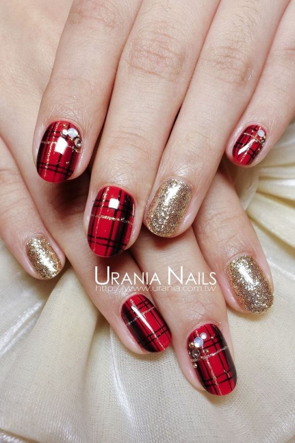39 Awesome Plaid Nail Art Designs for Your Preppy Days ...
