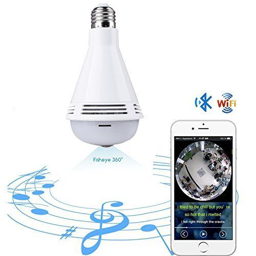 Quanmin Smart VR Panoramic HD 360° Wide Angle Fisheye Wireless Wi-fi E27 LED Light Bulb With Bluetooth For IOS Android APP Remote View Hidden Home Security CCTV IP Camera System #Quanmin #Smart #Panoramic #Wide #Angle #Fisheye #Wireless #Light #Bulb #With #Bluetooth #Android #Remote #View #Hidden #Home #Security #CCTV #Camera #System #smarthomelighting