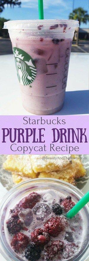 Starbucks Purple Drink Copycat Recipe #PurpleDrink • Beauty and the Beets
