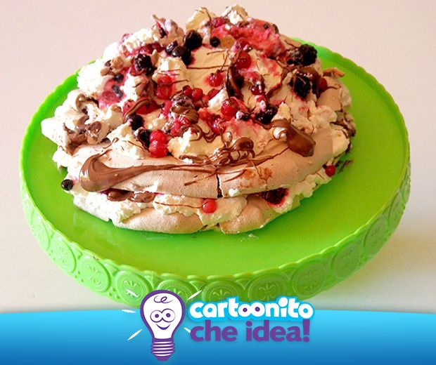 UNA NUVOLA DI PANNA E MERINGA  #CartoonitoCheIdea #Cartoonito #pavlova #food #dolci #ricette #merenda #kids #genitori #bambini #torta #cake #meringa