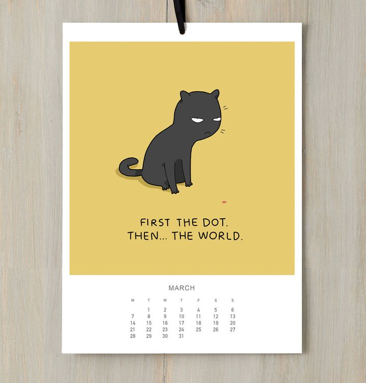I Created A Cat Calendar To Make You Smile All Year Round In 2016 | Bored Panda
