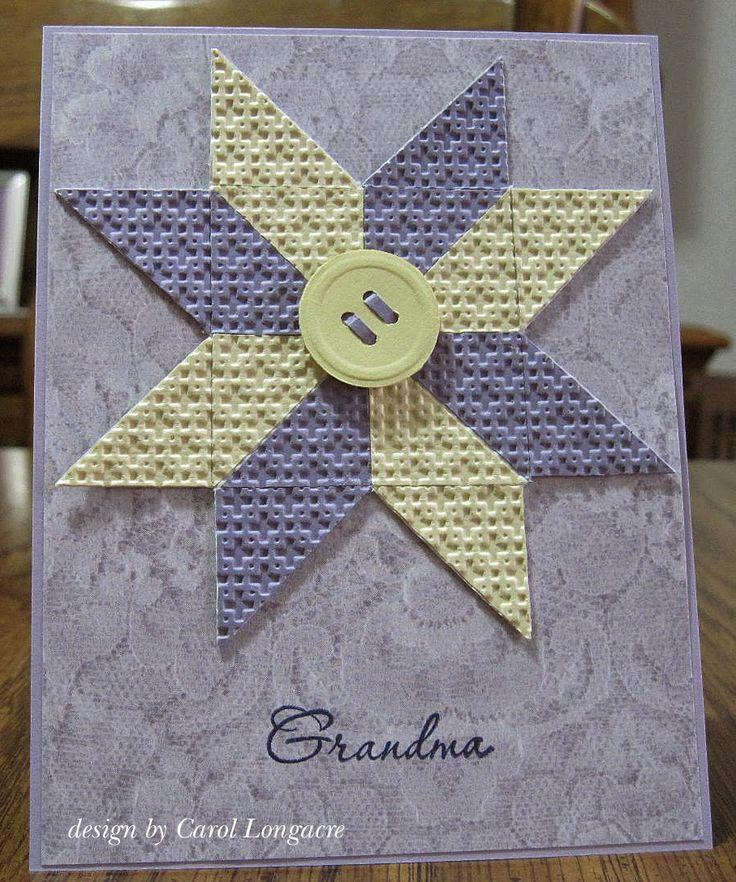 ohio star quilt card by carol longacre cards i love