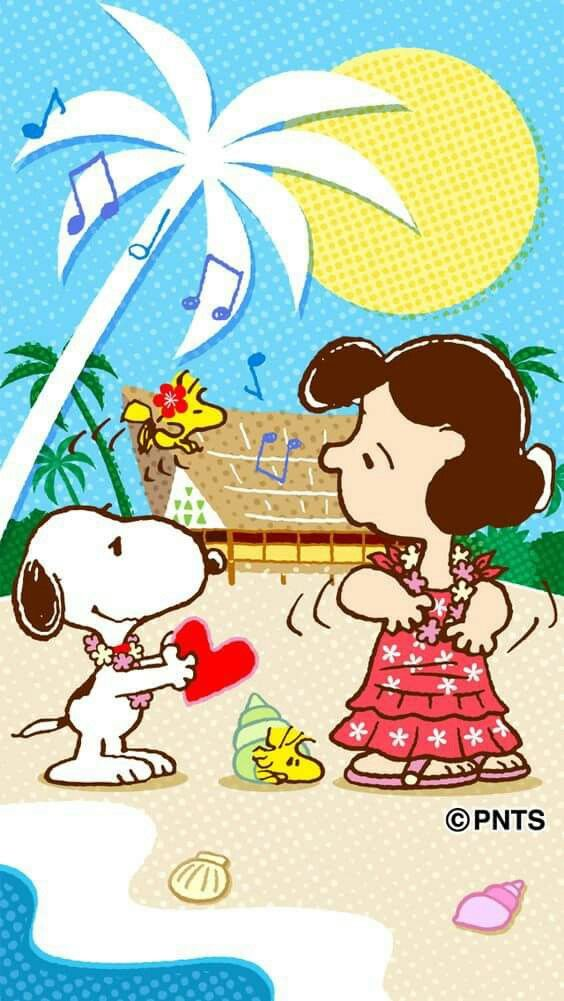 The Peanuts Gang Hawaiian style