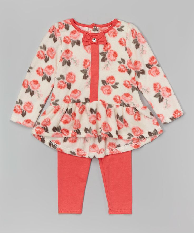 Take a look at this Coral Rose Fleece Tunic & Leggings - Infant today!