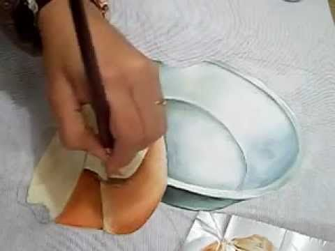 Pintura em Tecido - como pintar Pão e Tacho - how to paint bread and pot