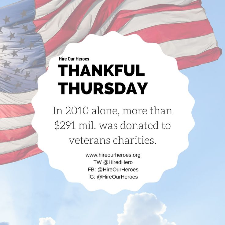 HOH is thankful for all of its amazing donors and those who continue to support Hire Our Heroes in any way possible.