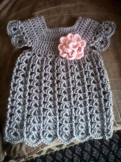 Free baby dress crochet pattern