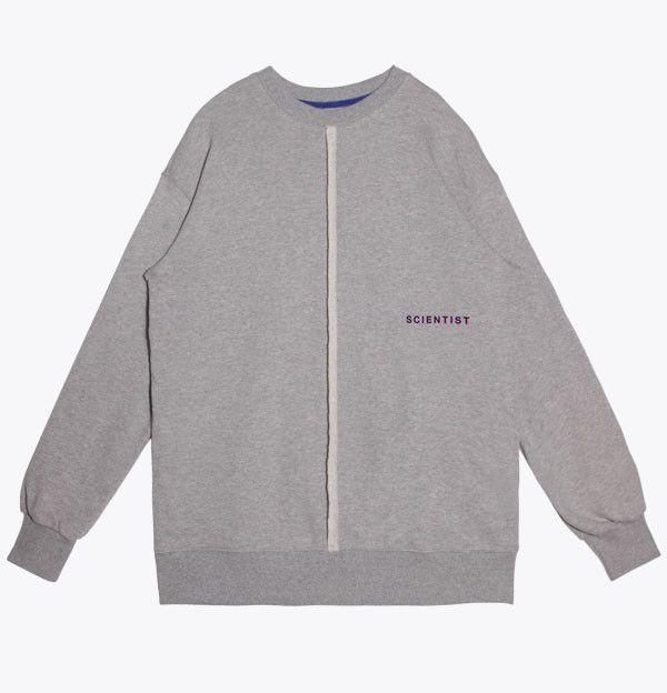 Basic Mid Cut Sweatshirts Gray