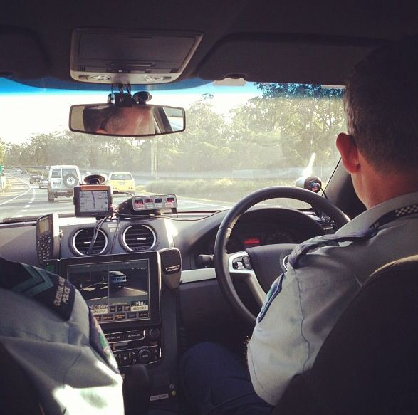 Inside a QLD State Traffic Task Force (STTF) vehicle with Automatic Number Plate Recognition (ANPR) 2014