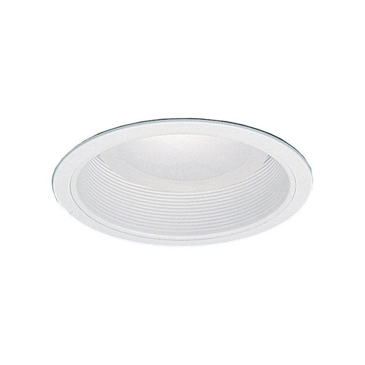 Thomas Lighting 6 in. Matte White With White Baffle Recessed Trim
