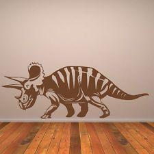 Triceratops Wall Sticker Jurassic Dinosaur Wall Decal Kids Bedroom Home Decor