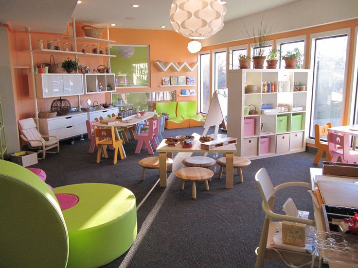 This classroom has Ikea written all over it... love the variety of seating, surfaces, and storage.  Cute.
