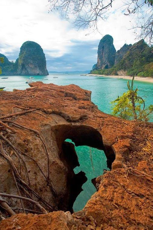 Google+ | Railay beach,Thailand by Sreejth Pathiyioi