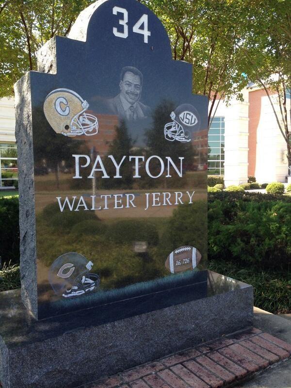 Walter Payton monument at Jackson State
