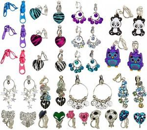 Jusice jewelry for girls | Justice Girls Nickel Sensitive Hypoallergenic Clip on Earrings U Pick ...