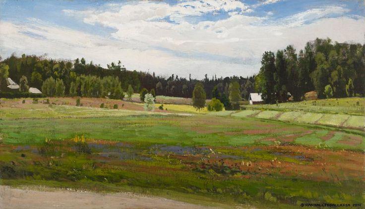 Fanny Churberg (1845-1892) Kesämaisema / Summer landscape 1879 - Finland