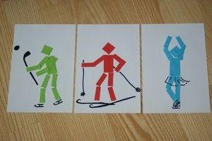 Zimní sporty plast práce