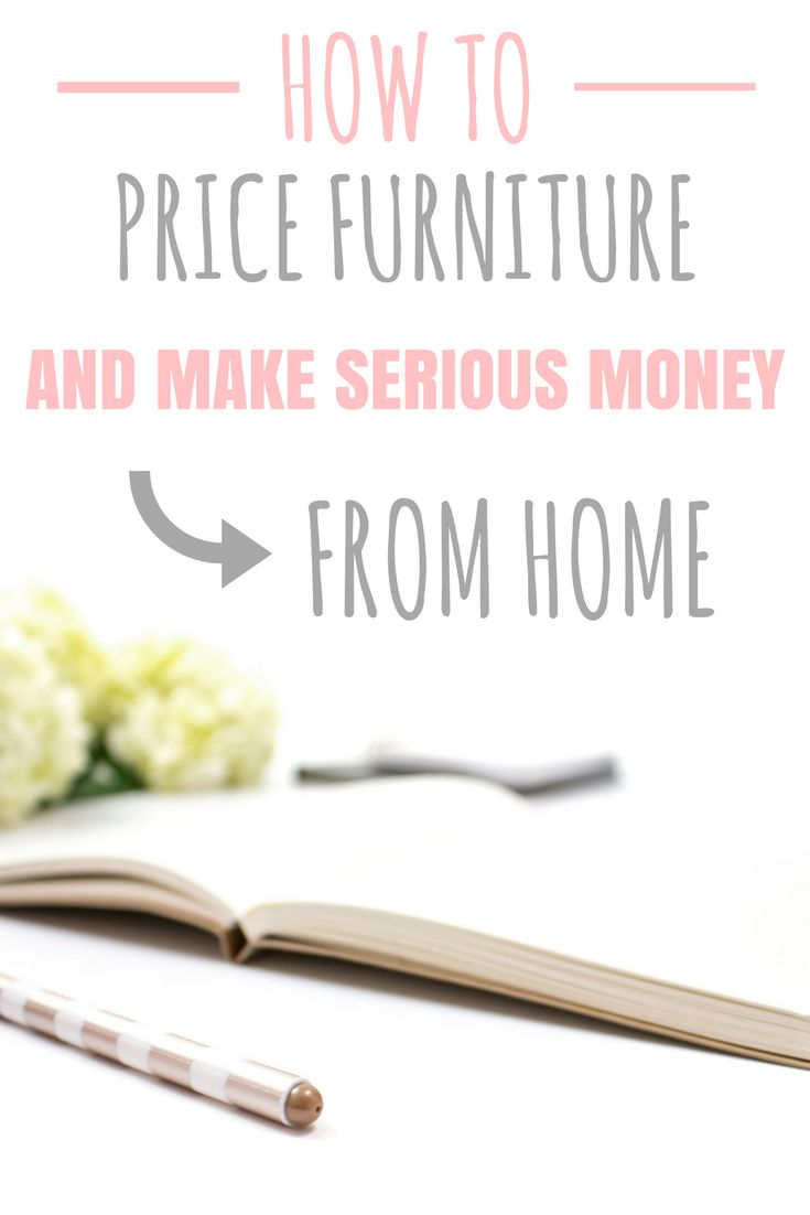 This furniture pricing guide is exactly what I need to help me NOT underprice my...