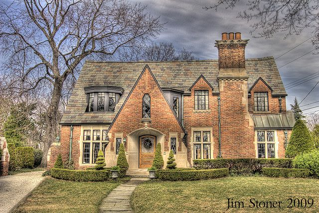A Tudor style home! This is, architecturally, my dream style of home :)