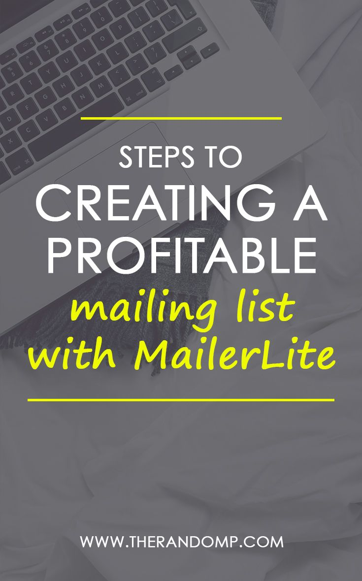 Why growing mailing list is important? And how to create email list with MailerLite? Learn email marketing tips for bloggers over here: https://www.therandomp.com/blog/profitable-mailing-list/