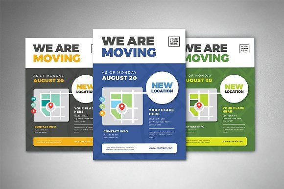 We Are Moving Flyer Templates By Vectorvactory On Creativemarket