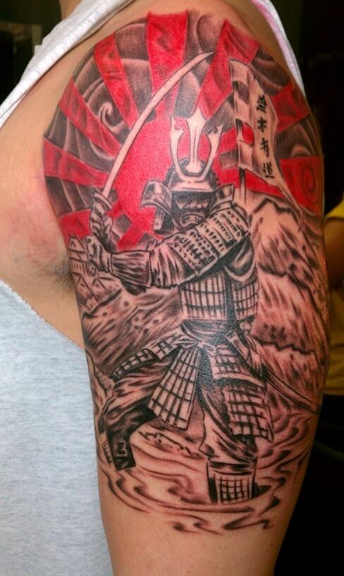Samurai tattoo by elliot masker