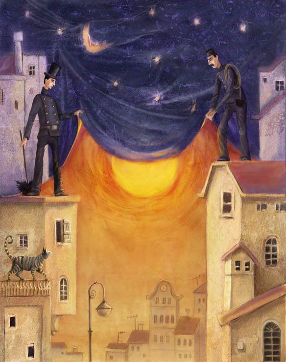moon & stars covering the sun