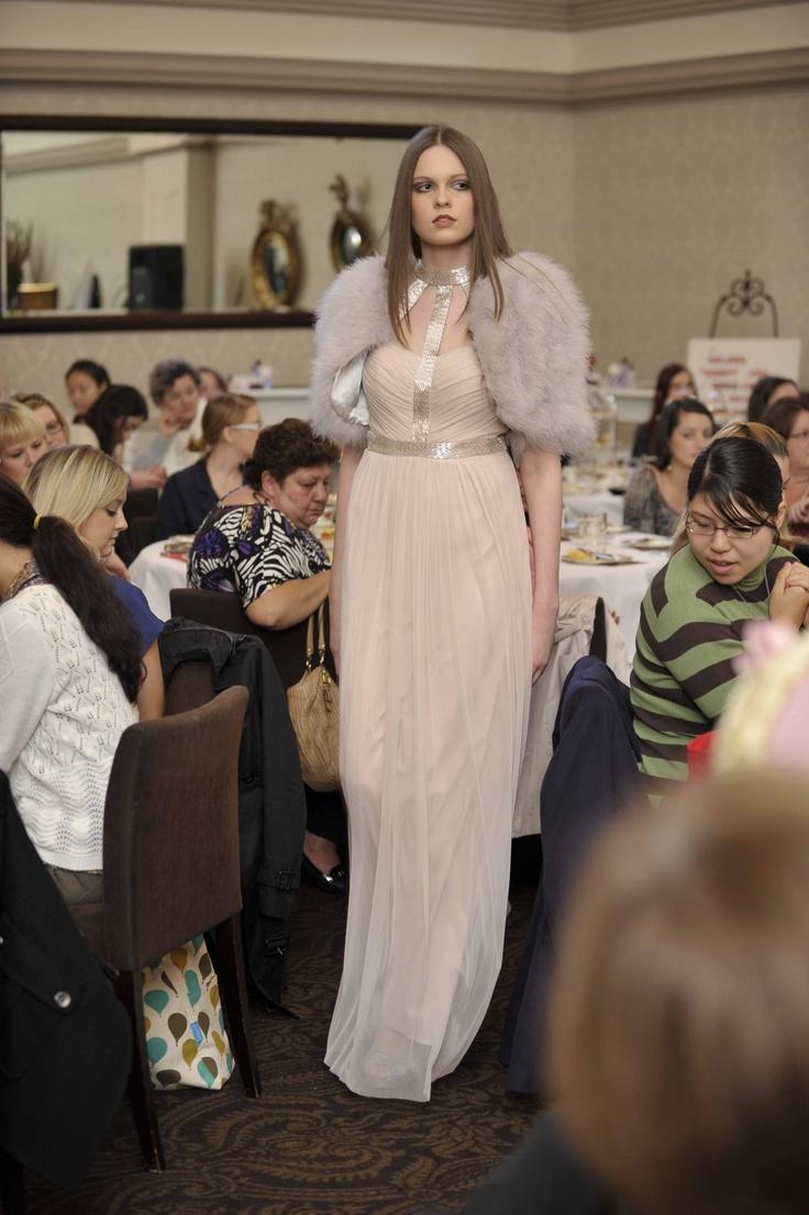 Trend: Neutrals  Model wears George gown & jacket and Karen Millen heels.   #qvb #george #karenmillen #fashion #gown