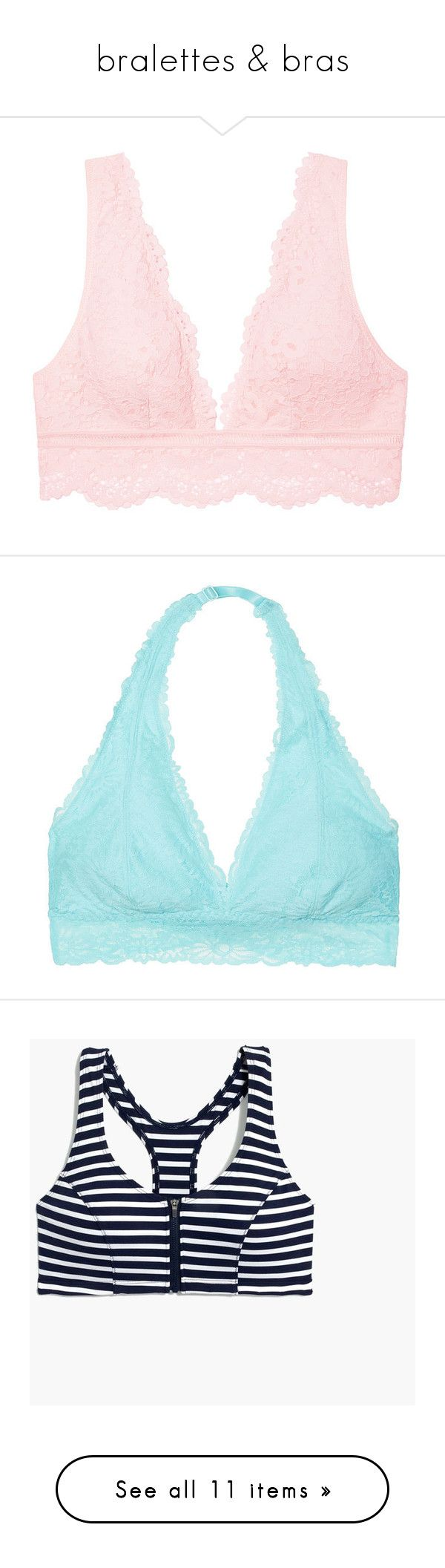 """""""bralettes & bras"""" by preppinessandpearls ❤ liked on Polyvore featuring intimates, underwear, victoria's secret, activewear, sports bras, white zip front sports bra, zip front sports bra, white sports bra, new balance activewear and zipper front sports bra"""