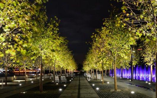 Krymskaya embankment, Moscow, WOWHAUS, Lighting design Anna Kharchenkova Public realm, Tree Uplights