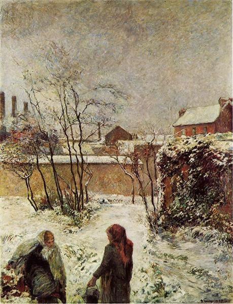 PAUL GAUGUIN (1848-1903): THE GARDEN IN WINTER, RUE CARCEL (1883)