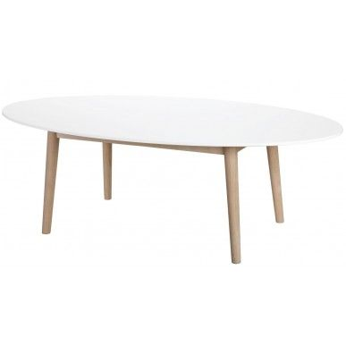 24Designs Salontafel Aalborg Oval - 130 x 70 cm - Wit