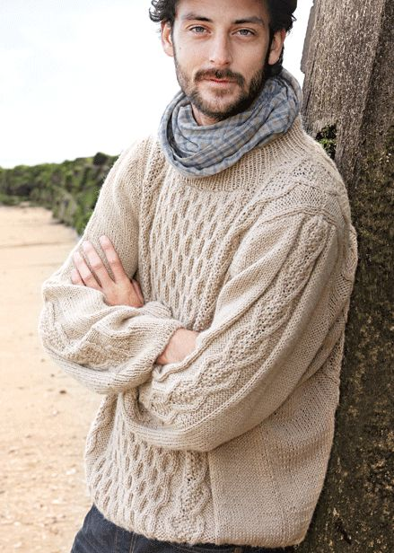 Verena Knitting Magazine   cable sweater aran knit Patterns - Men Knitting ...