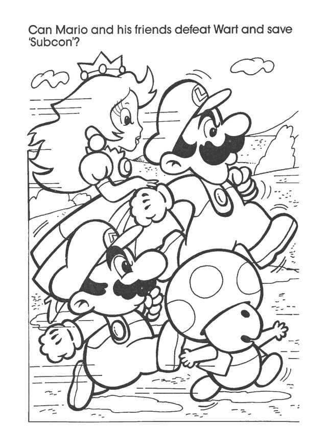 The Captain N Network Super Mario Coloring Pages Mario Coloring Pages Cute Coloring Pages