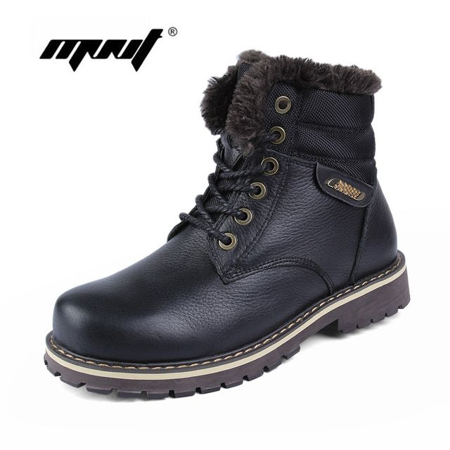 Fair price 100% Genuine Leather Men Boots High Quality Plus Fur Men Winter Boots Super Warm Men Shoes Large Size Snow Boots just only $52.02 - 53.75 with free shipping worldwide  #menshoes Plese click on picture to see our special price for you