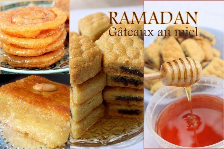 Une sélection de recette de gâteaux orientaux ou algériens au miel, de la patisserie maghrebine pour le ramadan 2016. Gâteau frit, beignet, crepe,