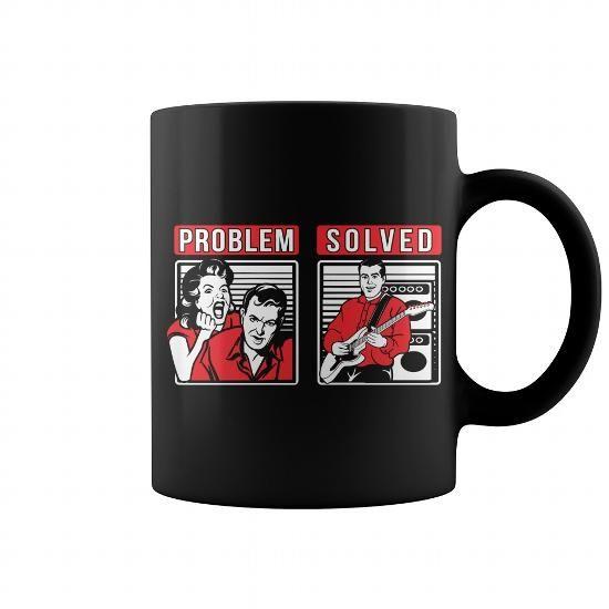 Guitar Problem Solved Mug #mugs #coffee #coffeemugs #guitar