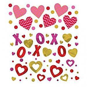 Hugs and Kisses Valentine Confetti
