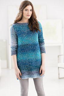 Blue Mesa Tunic - free crochet pattern in sizes S-2X by Vladimir Teriokhin for Lion Brand Yarn. Aran weight.