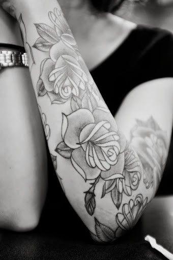 Beautiful Arm Tattoos For Girls.Design tattoo for fashion girls.   #tattoo #black  #girls www.loveitsomuch.com
