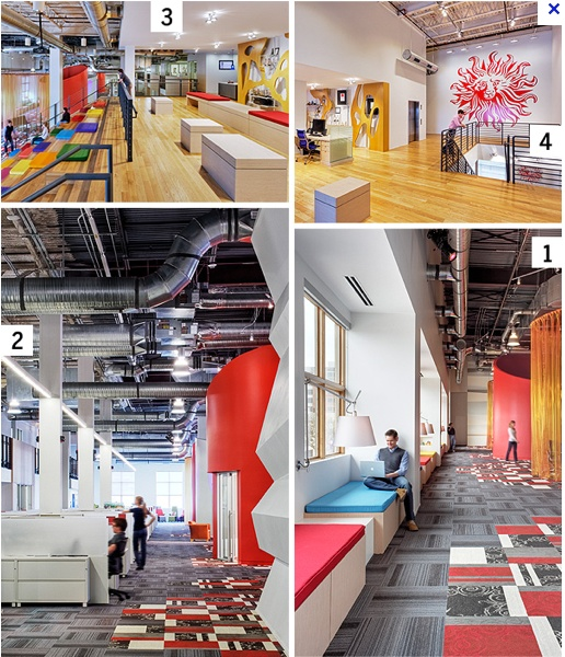 47 best images about cool office spaces on pinterest for Cool office space ideas