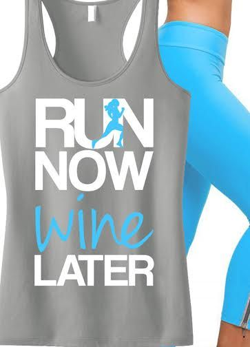 Perfect for #Running and #Working #Out! Featuring a RUN NOW WINE LATER