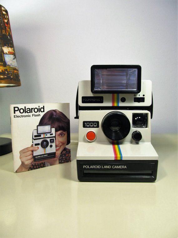 Polaroid Camera Vintage Camera Camera Polaroid Land Camera 1000 Camera Sx70 With Flash Polatronic 1 Vintage Polaroid Vintage Polaroid Camera Vintage Cameras