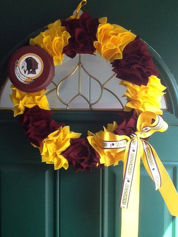 Hey, I found this really awesome Etsy listing at http://www.etsy.com/listing/161469194/washington-redskins-decorative-wreath