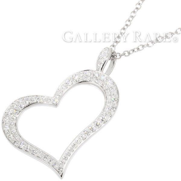 ピアジェ ネックレス ハート PIAGET HEART ダイヤモンド 約0.77ct K18WGホワイトゴールド G33H0700 ジュエリー ダイアモンド ペンダント フルダイヤ パヴェダイヤ