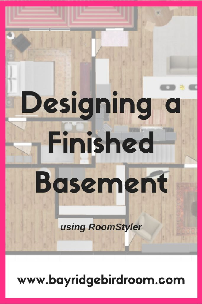 Interior Design | Using the online tool, RoomStyler, to design spaces for your home | home design | basement design | basement layout ideas | kitchen layout | living room layout | online design tools
