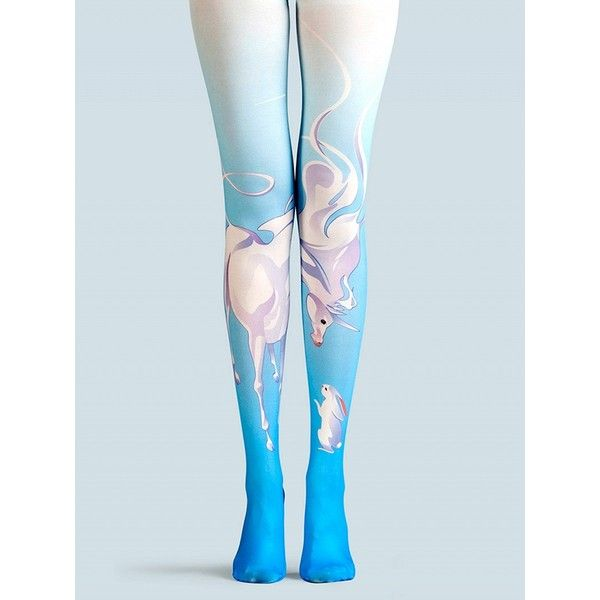 Choies Blue Animal Print High Waist Tights ($27) ❤ liked on Polyvore featuring intimates, hosiery, tights, blue, animal print tights, blue stockings, blue pantyhose, blue tights and high waisted tights