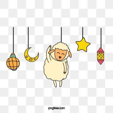 Sheep Cartoon Vector Eid Al Adha Png And Vector Cartoons Vector Sheep Cartoon Sheep Vector