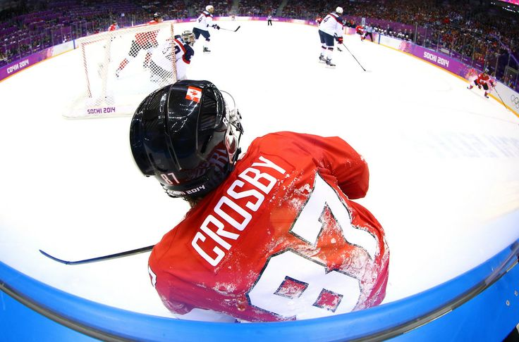 Sidney Crosby during the semifinal against the USA. #Sochi2014